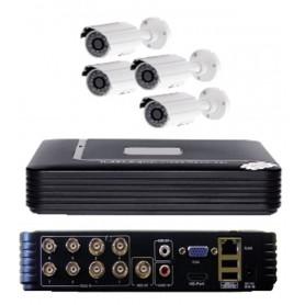 Videosorveglianza 8 canali con HVR 1Tb, 4 telecamere e cavi