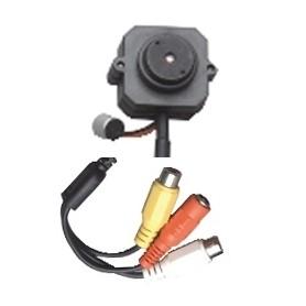 Microtelecamera colori per interni con microfono ambientale