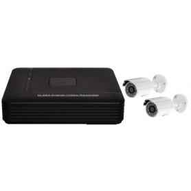 VideoSorveglianza HVR 4 canali 1Tb con 2 telecamere e cavi