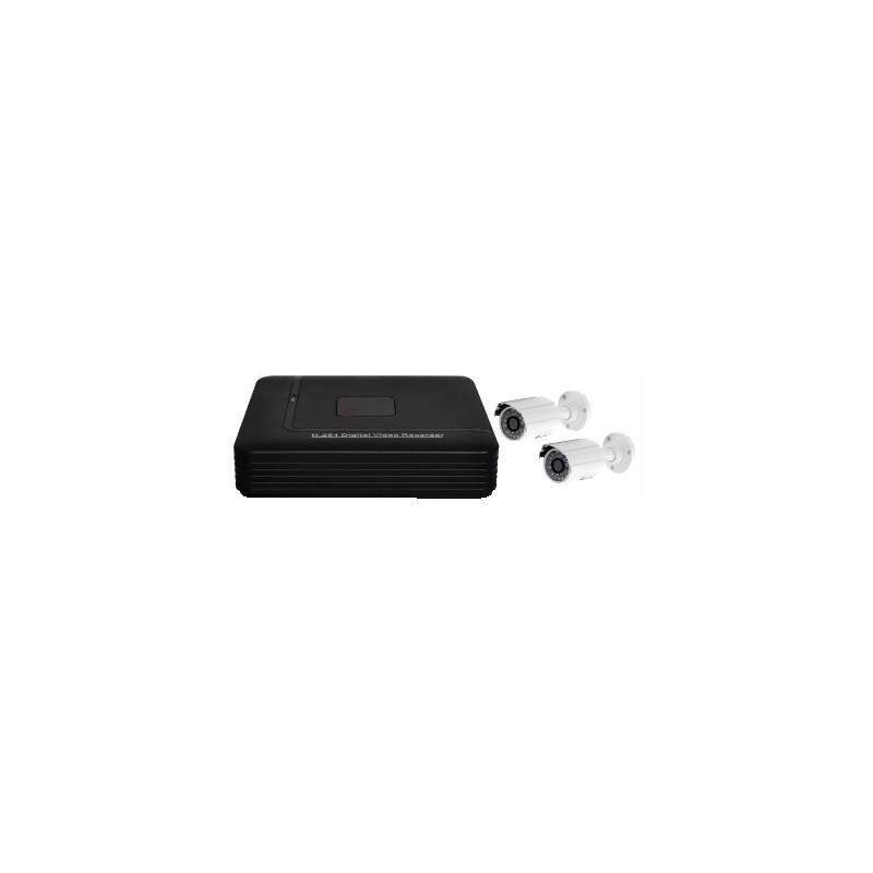 Videosorveglianza 4 canali con HVR 1Tb, 2 telecamere e cavi