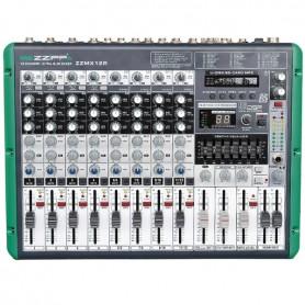 ZZIPP Mixer Professionale 12ch Multieffetto DSP