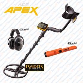 Garrett APEX™ Z-LINK pack piastra RAIDER + ProPointer e Cuffia s/f